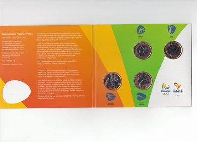Blister Oficial com 4 moedas olímpicas de 1 Real - 2014