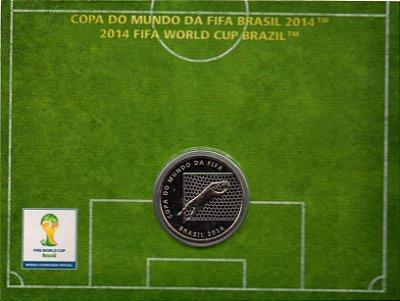 Moeda Comemorativa da Copa do Mundo - 2 REAIS - Brasil 2014 - DEFESA DO GOLEIRO