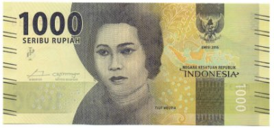 Cédula de 1000 Rúpias da Indonésia