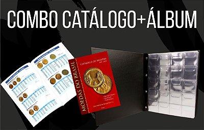 Combo - 1 Catálogo de Moedas do Brasil + 1 Álbum para 200 moedas