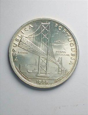 Moeda de 20 escudos de Portugal 1966 - Prata