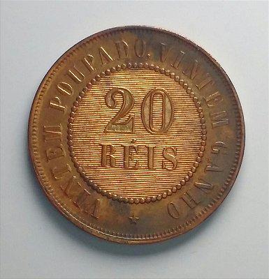 Moeda de 20 Réis de Bronze - 1910