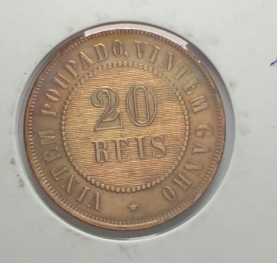Moeda de 20 Réis de Bronze data escassa - 1912