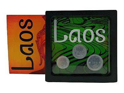 Display de Plástico Laos com 3 moedas