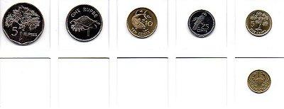Set Moedas de Seychelles - 6 moedas