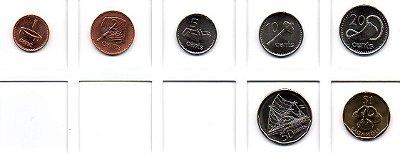 Set Moedas de Fiji - 7 moedas
