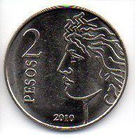 Moeda de 2 Pesos Argentina - Banco Central