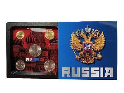Display de Plástico Rússia com 5 Moedas