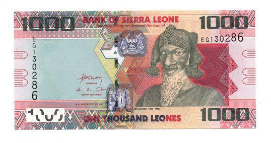 Cédula de Sierra Leone - África