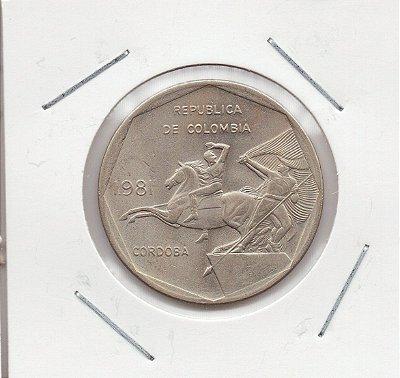 Moeda da Colômbia - 10 Pesos - 1981