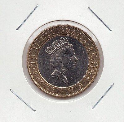 Moeda da Inglaterra - 2 Libras - 1997