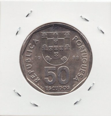 Moeda de Portugal - 50 Escudos - 1988