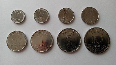 Série de Moedas do Padrão Cruzado com 8 moedas - Datas Variadas