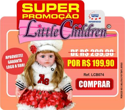 Boneca Little Children PREMIUM 074