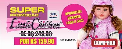 Boneca Little Children 200A menina