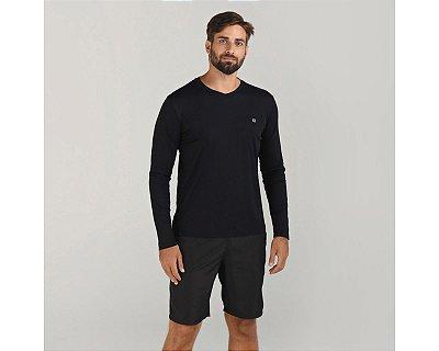 Camiseta com Proteção Solar UV.LINE - Sport Fit - Preto