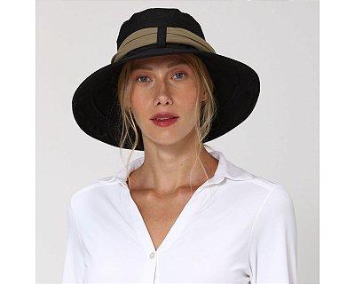 Chapéu com Proteção Solar Paris Ville UV.LINE - Preto e Kaki
