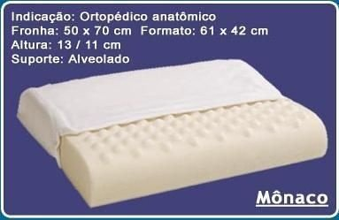 Travesseiro piramidal Mônaco viscoelástico 60cmX40cm