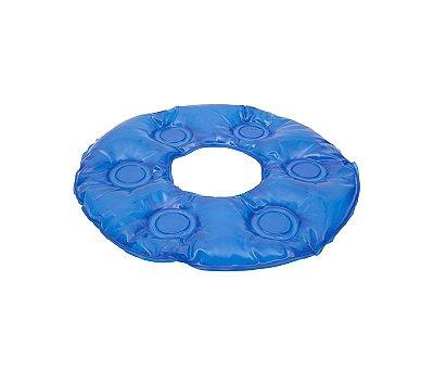 Almofada (forração) ortopédica gel redonda com orifício (hosp)