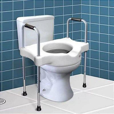 Elevador assento sanitário c/alças reguláveis (hosp)