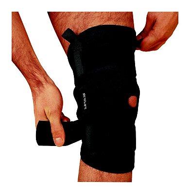 Órtese para joelho com dobradiças metálicas