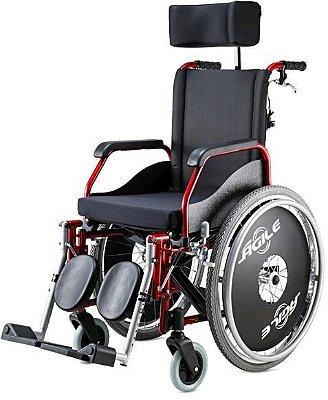 Cadeira rodas Ágile em alumínio reclinável