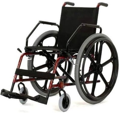 Cadeira de rodas Cantu pneu inflável em aço