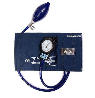Aparelho de pressão adulto nylon metal bic (hosp)