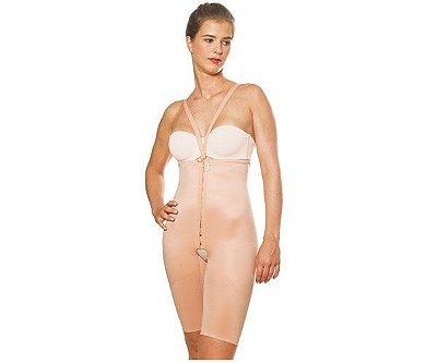 Cinta bermuda modeladora aberta com cintura alta, colchetes e alças destacáveis código 2034