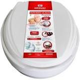 Assento sanitário elevado 13,5 cm almofadado com tampa mebuki