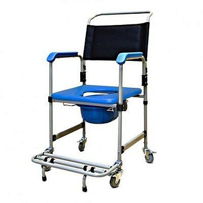 Cadeira de banho higiênica com assento estofado removível e coletor d50