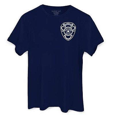 Camiseta Capcom Resident Evil Umbrella Rpd Masculina Azul Marinho