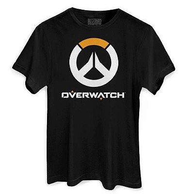 Camiseta Masculina Blizzard Overwatch Logo Preta
