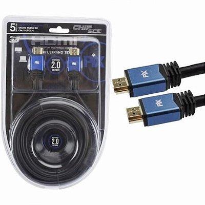 CABO HDMI 5M 2.0 4K ULTRAHD 19 PINOS COM FILTRO