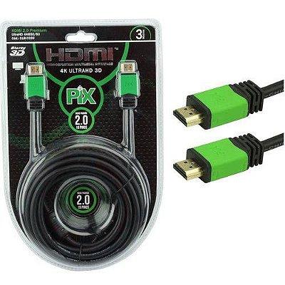 CABO HDMI 3M 2.0 4K ULTRAHD 19 PINOS COM FILTRO