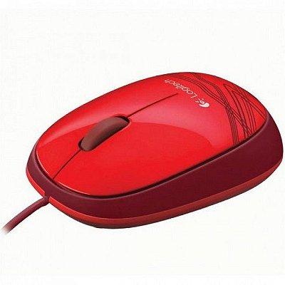 Mouse Optico Com Fio M105 Vermelho Logitech