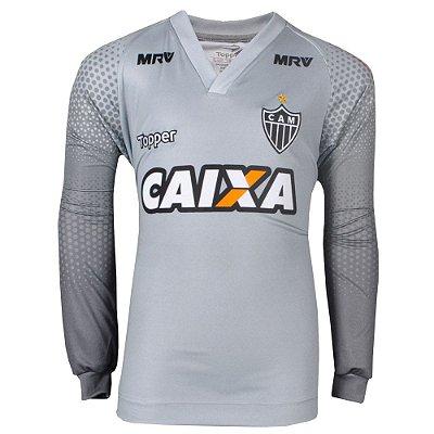 Camisa Atlético Goleiro Infantil Manga Longa 2017 Topper