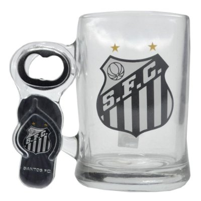 Caneca de Vidro 350ML CAbridor Santos FC