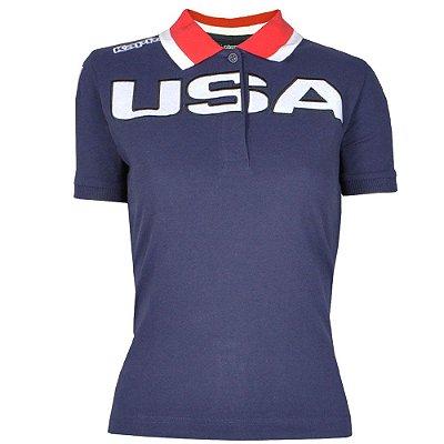 Camisa Polo Feminina USA Kappa