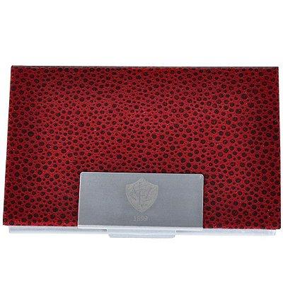 Porta Cartão Couro Vitória - Vermelho