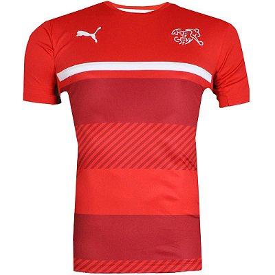 Camisa Suíça Treino Puma Vermelho