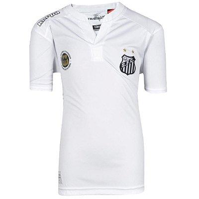 Camisa Santos Jogo I Torcedor Juvenil 2017 Kappa