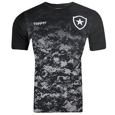 Camisa Botafogo Aquecimento 2017 Topper
