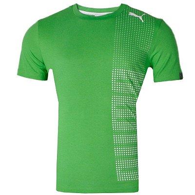 Camisa Casual Tech Graphc Tee Verde Classic 2013 Puma