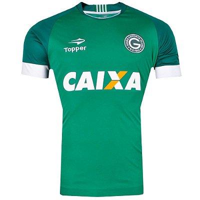Camisa Goiás Jogo I Sem Número Com Patrocínio 2017 Topper
