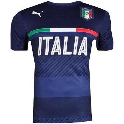 Camisa Puma Figc Italia Training Jersey Marinho