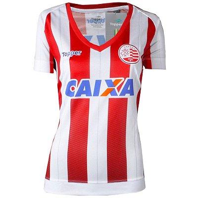 Camisa Náutico Jogo I Sem Número Feminina 2017 Topper