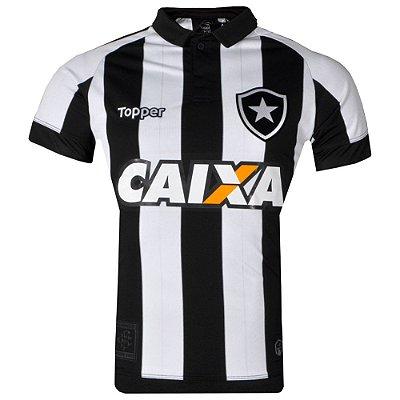 Camisa Botafogo Jogo I  C/Patrocínio 2017 Topper