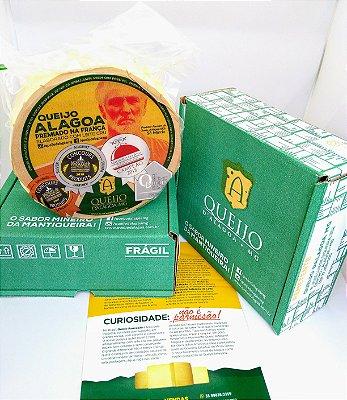 Queijo artesanal Alagoa 900gr a 1kg