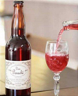 Demi Panachê - vinho suave rosé - gaseificado- garrafa 600ml - familia carra - serra negra-
